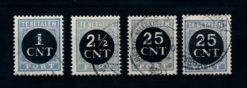 Nederland 1923 Portzegels P61-P64 gestempeld