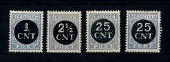 Nederland 1923 Portzegels P61-P64 ongebruikt