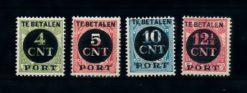 Nederland 1924 Portzegels P65-P68 ongebruikt