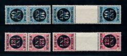 Nederland 1924 Portzegels keerdrukken compleet P67a-P68b luxe postfris