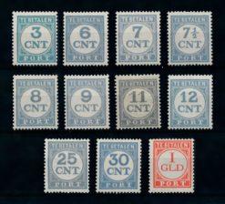 Nederland 1921-1938 Portzegels Cijfers P69-P79 ongebruikt