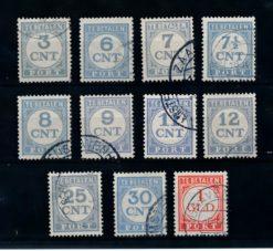 Nederland 1921-1938 Portzegels Cijfers P69-P79 gestempeld