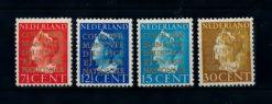 Nederland 1940 Dienst Cour Permanente De Justice Internationale D16-D19 ongebruikt