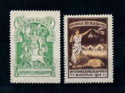Nederland 1916 Interneringszegels Maagd met Leeuw  IN1-IN2 ongebruikt