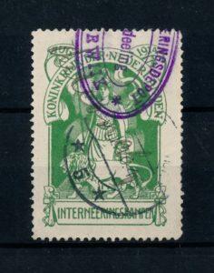 Nederland 1916 Interneringszegel Maagd met Leeuw IN1 gestempeld