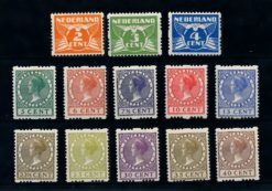 Nederland 1926 Veth Tweezijdige roltanding zonder watermerk R19-R31 gestempeld