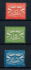Nederland 1921 Luchtpost Allegorische Voorstelling LP1-LP3 postfris