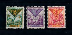 Nederland 1925  Kinderzegels roltanding R71-R73 ongebruikt