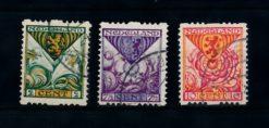 Nederland 1925  Kinderzegels roltanding R71-R73 gestempeld