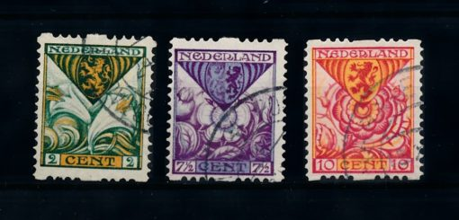 Nederland 1925  Kinderzegels roltanding R71-R73 gestempeld 1