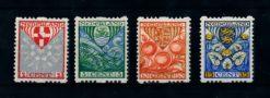 Nederland 1926  Kinderzegels roltanding R74-R77 ongebruikt