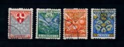 Nederland 1926  Kinderzegels roltanding R74-R77 gestempeld