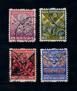 Nederland 1927 Kinderzegels roltanding R78-R81 gestempeld