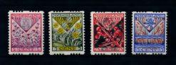 Nederland 1927 Kinderzegels roltanding R78-R81 ongebruikt