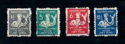 Nederland 1929 Kinderzegels roltanding R82-R85 gestempeld