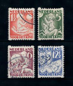 Nederland 1930 Kinderzegels roltanding R86-R89 gestempeld