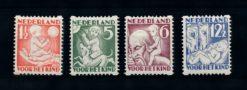 Nederland 1930 Kinderzegels roltanding R86-R89 ongebruikt