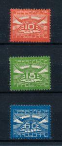 Nederland 1921 Luchtpost Allegorische Voorstelling LP1-LP3 ongebruikt