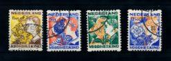 Nederland 1932 Kinderzegels roltanding R94-R97 gestempeld