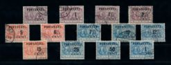 Nederland 1907 Portzegels Overdruk op M.A. De Ruyter P31-P43 gestempeld