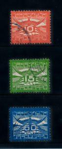 Nederland 1921 Luchtpost Allegorische Voorstelling LP1-LP3 gestempeld
