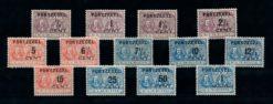 Nederland 1907 Portzegels Overdruk op M.A. De Ruyter P31-P43 ongebruikt