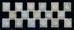Nederland 1912-1920 Cijferserie P44-P60 ongebruikt