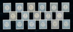 Nederland 1912-1920 Cijferserie P44-P60 gestempeld
