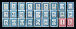 Nederland 1947-1958 Portzegels Cijferserie P80-P106 postfris