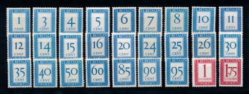 Nederland 1947-1958 Portzegels Cijferserie P80-P106 postfris 1