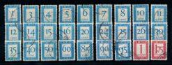 Nederland 1947-1958 Portzegels Cijferserie P80-P106 gestempeld