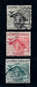 Nederland 1929 Luchtpost Mercurius LP6-LP8 gestempeld