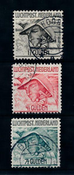 Nederland 1929 Luchtpost Mercurius LP6-LP8 gestempeld 1