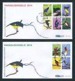 Aruba 2014 FDC Paradijsvogels  E 196A/B