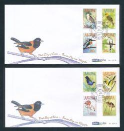 Aruba 2017 FDC Vogels  E 227A/B