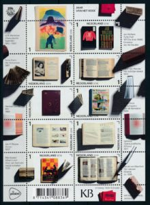 Nederland 2016 Jaar van het boek velletje NVPH V3452-61