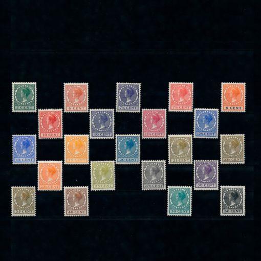 Nederland 1926-1939 Koningin Wilhelmina Veth met watermerk NVPH 177-198 Postfris 1