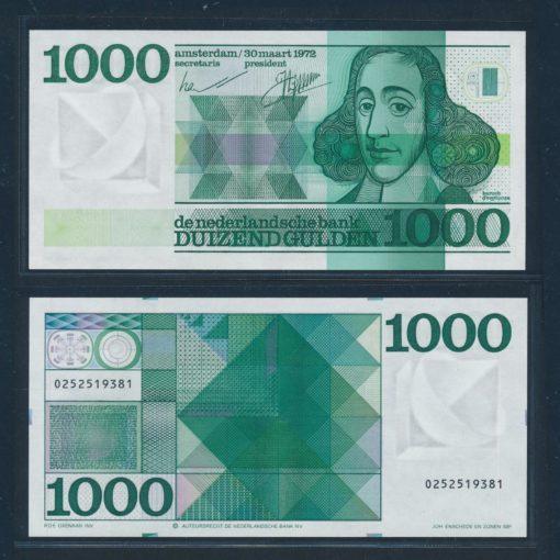Nederland 1972 1000 Gulden Espinoza Bankbiljet 155-1 UNC 1