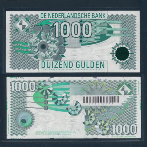 Nederland 1999 1000 Gulden Kievit Bankbiljet 156-1 UNC 1