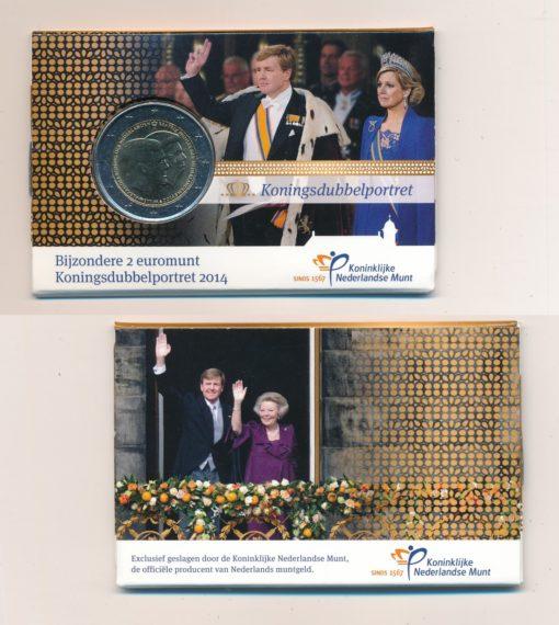 105069 Nederland 2014 Koningsdubbelportret coincard