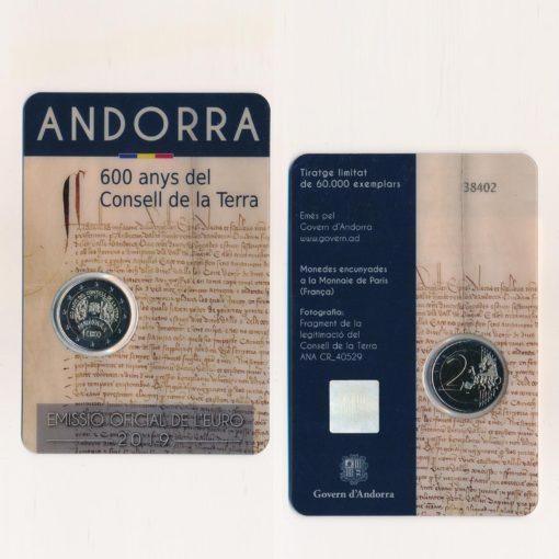 105109 Andorra 2019 2 Euro 600 Jaar