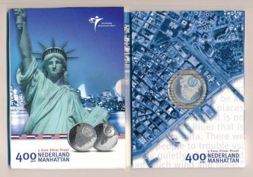 Nederland 2009 Manhattan vijfje 5 euro proof in blister