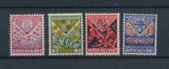Nederland 1927 Kinderzegels provinciewapens NVPH 208-211 Ongebruikt