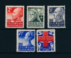Nederland 1927 Rode Kruis Zegels NVPH 203-207 Ongebruikt