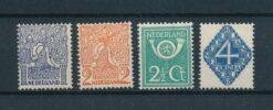 Nederland 1923 Diverse voorstellingen NVPH 110-113 Ongebruikt