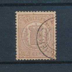 Nederland 1869 Wapenzegel 0,5 cent bruin NVPH 13 Gestempeld