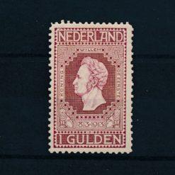 Nederland 1913 Jubileumzegels 100 jaar onafhankelijkheid. 1 gld wijnrood NVPH 98 Ongebruikt