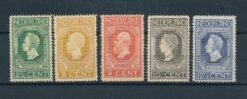 Nederland 1913 Jubileumzegels 100 jaar onafhankelijkheid 2,5 ct -12,5 ct NVPH 90-94 Ongebruikt