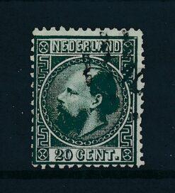 Nederland 1867 Koning Willem III 20 ct donkergroen NVPH 10 Gestempeld