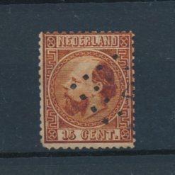 Nederland 1867 Koning Willem III 15 ct oranjebruin NVPH 9 Gestempeld